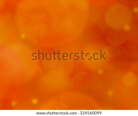 Gold Festive Christmas background. Elegant abstract background orange bokeh  - stock photo