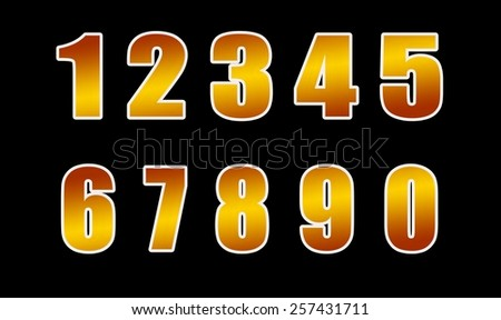gold figures, isolated on a black background - stock photo