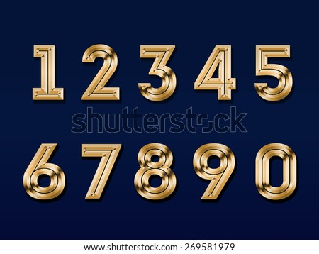 gold figures, isolated on a red  background - stock photo