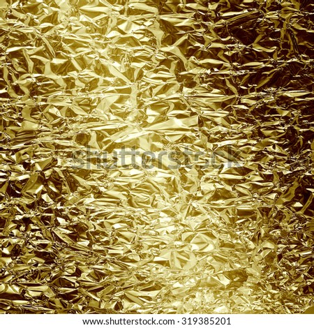gold foil abstract grunge background - stock photo