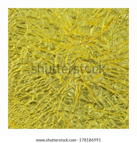 gold foil white background. - stock photo