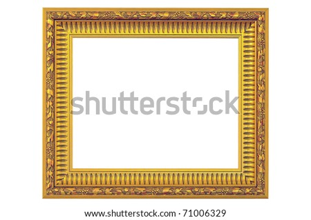 Gold Frame - stock photo