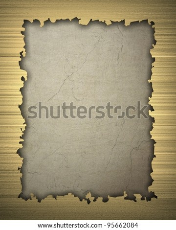 Gold frame isolated on vintage background - stock photo