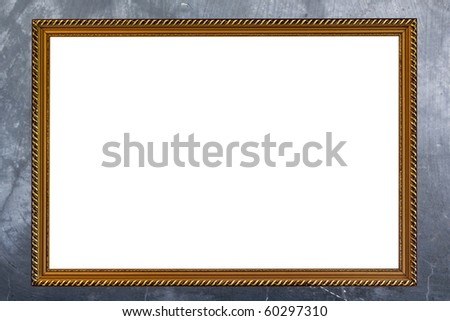 gold frame on concrete background