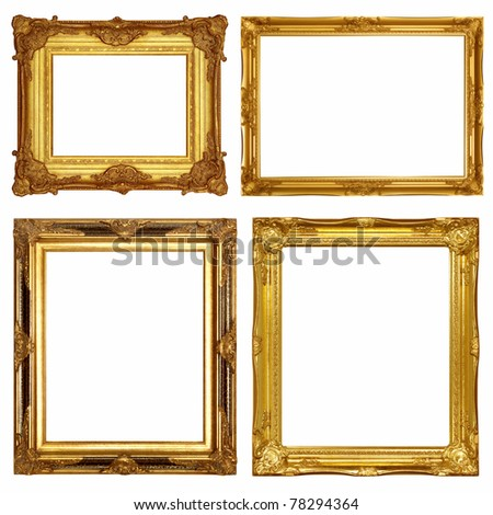 Gold frames, similar sets available four options available to format - stock photo