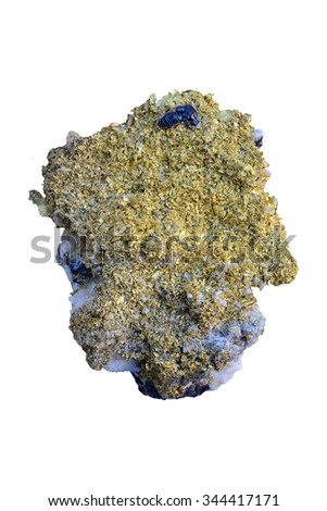 Gold from Cavnic, Maramures, Romania.  - stock photo