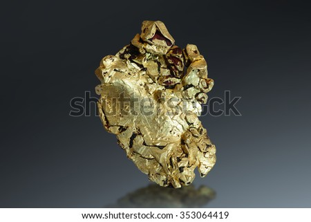 Gold from Mt. Kare, Papua New Guinea.  - stock photo