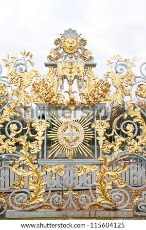 Gold Gates at Hampton Court Palace - stock photo