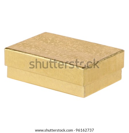 Gold Gift Box - stock photo