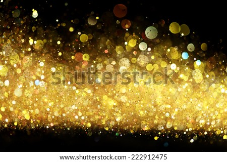Gold glitter - stock photo