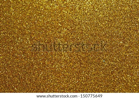 Gold glitter for texture or background - stock photo