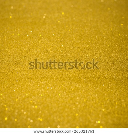Gold glitter texture, abstract christmas lights on background - stock photo