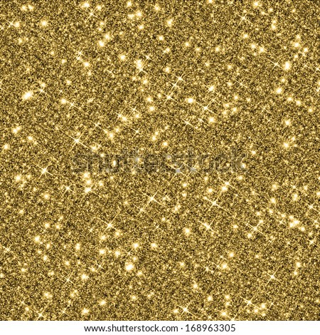 Gold glitter texture background. - stock photo