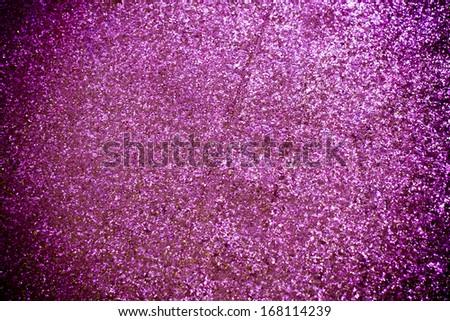 Gold glitter texture macro close up background purple - stock photo