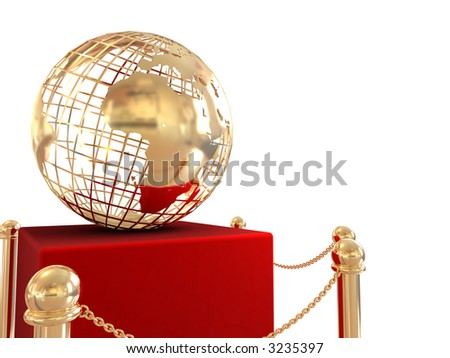 gold globe background - stock photo