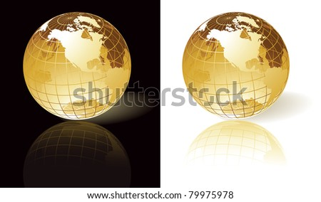 Gold globes