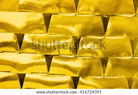 Gold golden blocks - stock photo