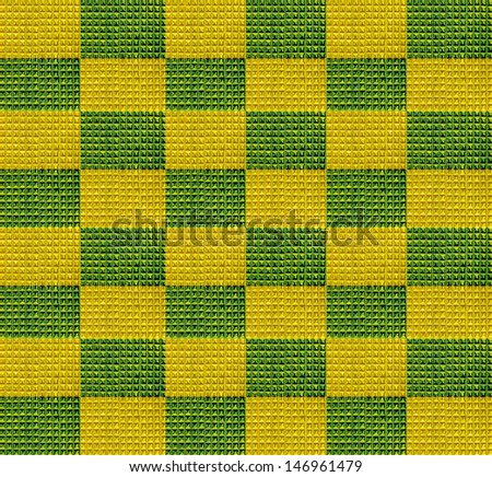 gold green tiles background - stock photo