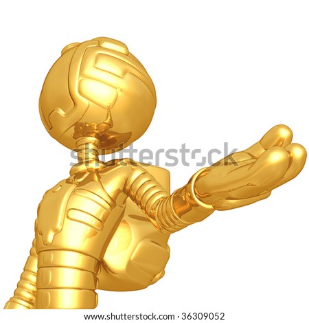 Gold Guy Astronaut - stock photo