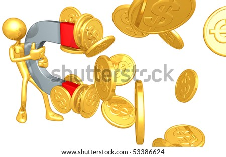 Gold Guy Money Magnet Concept