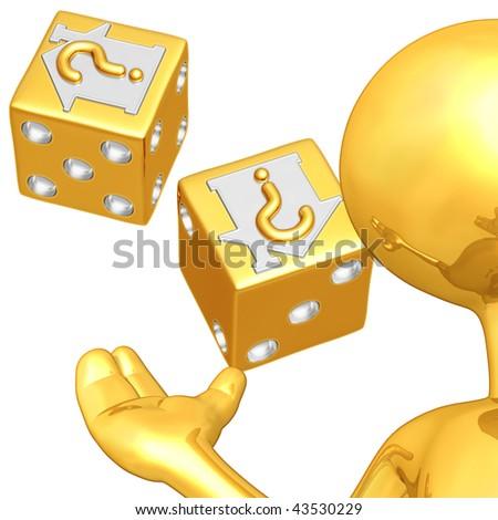 Gold Guy Realty Risk Presenter - stock photo