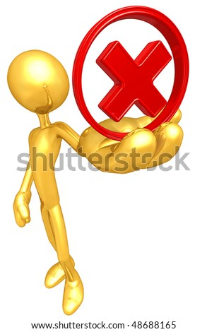 Gold Guy Rejected - stock photo