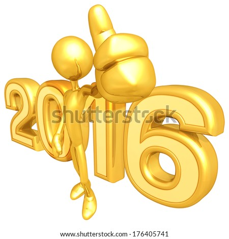 Gold Guy Thumbs Up 2014