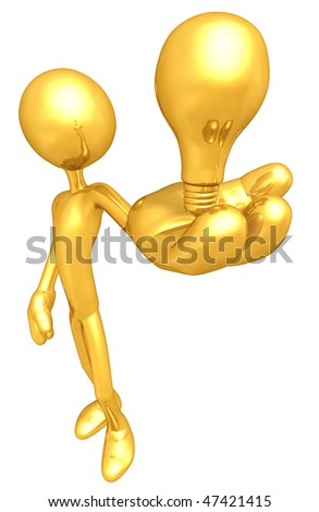Gold Guy With Golden Idea