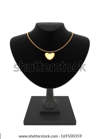 Gold heart - stock photo