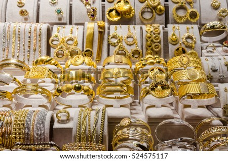Gold Jewelry Egyptian Bazaar Grand Bazaar Stock Photo Edit Now