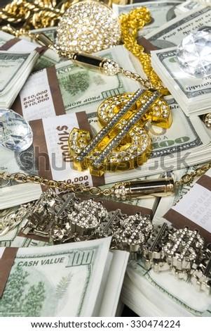 Gold Jewelry Bling Money Stock Photo 330474224 Shutterstock