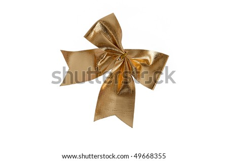 gold knot isolated on white background