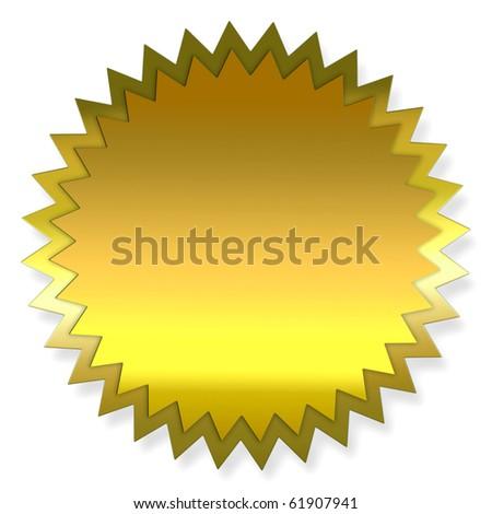 gold label - stock photo
