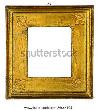 Gold Leaf Italian Picture Frame - stock photo