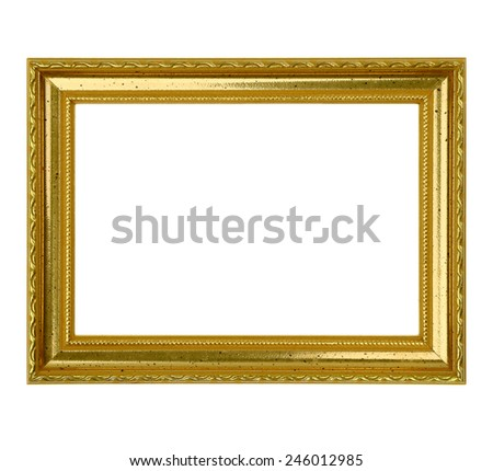 Gold Leaf Picture Frame - stock photo