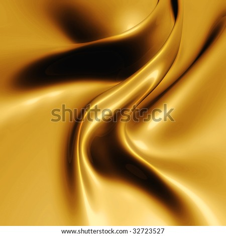 Gold leather silk - stock photo