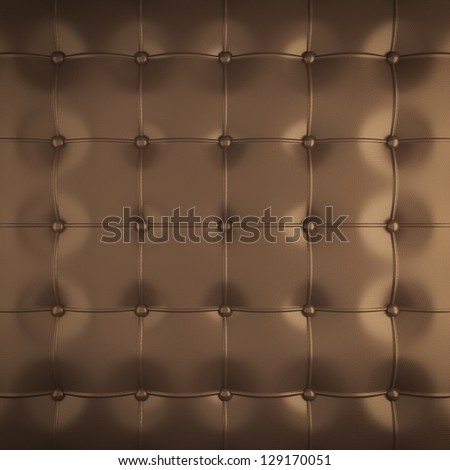 gold leather upholstery pattern , 3d illustration - stock photo