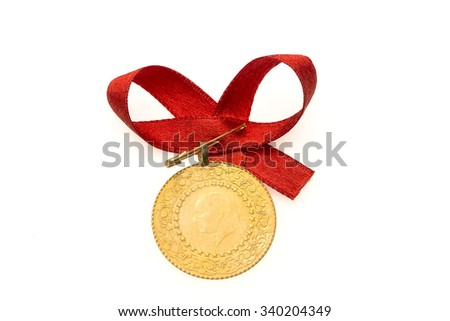 Gold Lira - stock photo