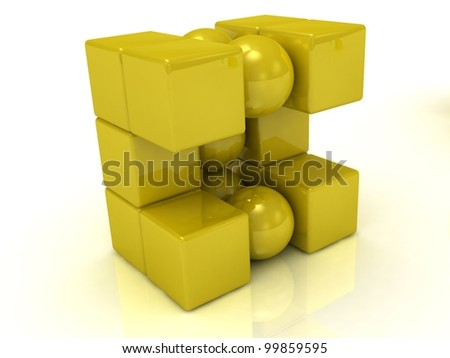 Gold magnet balls and cubes