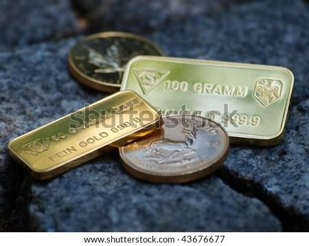 gold market - stock photo