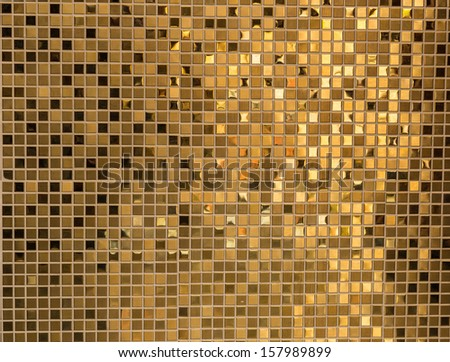 Gold masaic - stock photo