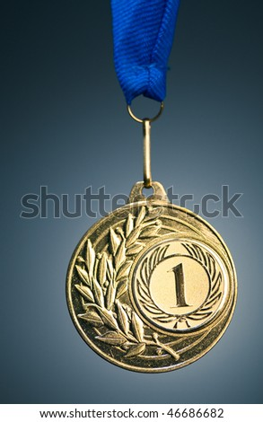 gold medal - stock photo