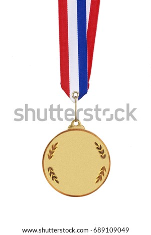 gold medal isolated on a white background