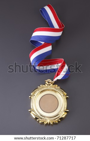 Gold medal isolated on the background. - stock photo