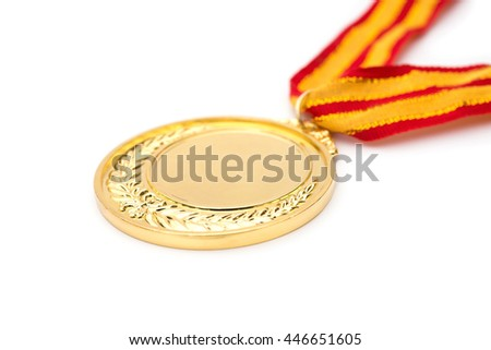 gold medal on a white background
