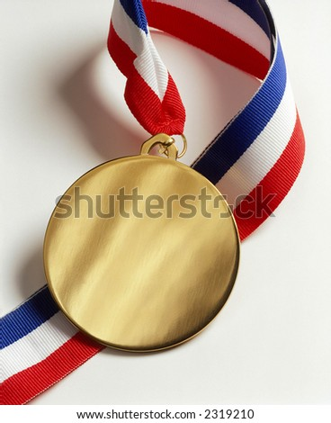 Gold Medal & Ribbon