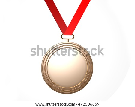 Gold medal with empty space for your texts or images