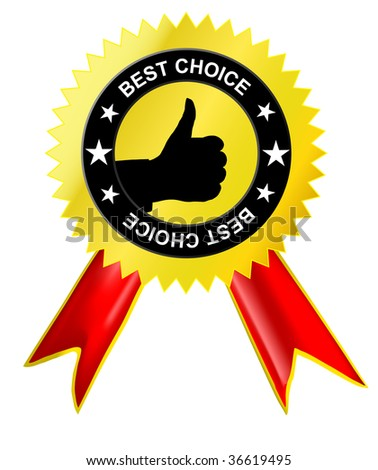 Gold medal with sign OK- concept of the best choice (jpg) - stock photo