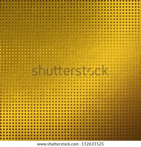 gold metal background texture grid pattern - stock photo