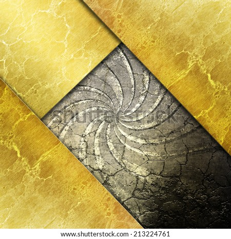 Gold metal construction. Industrial background - stock photo